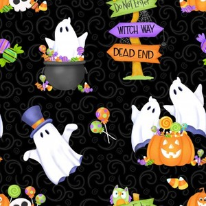 EE Schenck Glow Ghost HEG9607G-99Tossed Ghosts, Pumpkins and Candy - Glow in the Dark