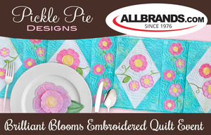 Pickle Pie Brilliant Blooms Virtual Embroider-a-long Event Saturday April 10th, 2021 10am - 4pm