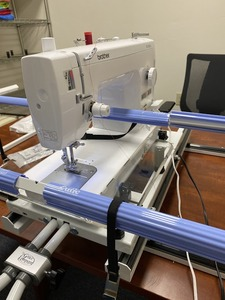 """Quilting Combo: Grace Cutie Frame 36"""" Free Motion Area + JUKI TL2010Q Sewing Machine +13x13"""" Ruler Base Extension Table + Grace Speed Control Box*"""
