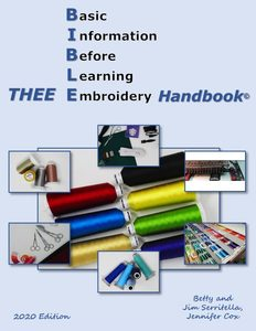 E-Z Stitches, Plus, Thee Embroidery Handbook, USB, flash drive,