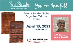 Quilt as you Go Feather Ruler Organizer Sew Steady Event with Lorrain Corzatt