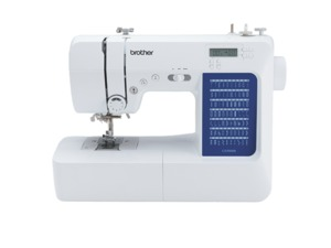 Brother CS7000X 70/110 Stitch Computer Sewing Machine LCD +Wide Extension Table, 7x1-Step Buttonholes, 7mm ZZ, Threader, 10 Feet, 10Lb, 25Yr Ltd Wnty.