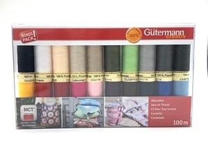 Gutermann Cotton 50 Thread Set, Basic Colors, 20 Spools