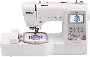 """Brother, RSE600, SE600, Babylock Verve, BLMVR. Computerized, Sewing and Embroidery Machine, 4"""" x 4"""" Embroidery Area, Brother SE600 103-Stitch Sewing 4x4 Embroidery Machine USB, 80 Designs, Color Screen, Drag Drop Edit, Threader & Trimmer, Speed Control, 8 BH, 7 Feet"""