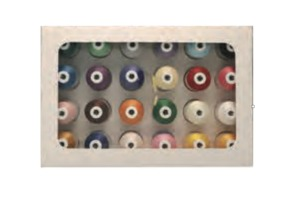 102537: Brother ETPPACE24 24 Colors Embroidery Thread Kit 40wt Poly 1100Yd Cones