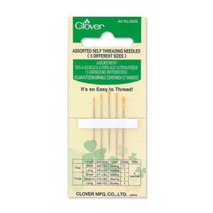 Clover CLQ2006 Self Threading Needles, Assorted
