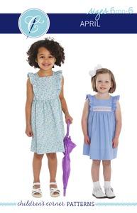 Children's Corner CC301S CC301L April Sewing Pattern Sizes 6m-6 and 7-14