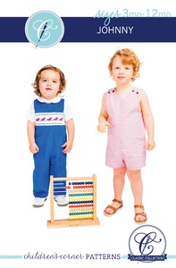 Children's Corner CC260S CC260L Johnny Sewing Pattern Sizes 3m-12m and 18m-4