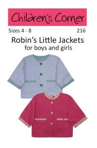 Children's Corner CC216 Robin's Little Jacket Sewing Pattern Sizes 4-8
