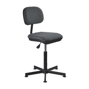 Consew CH-K12-Grey Swivel Sewing Chair, Upholstered Grey with Air Lift