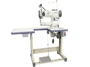 "Techsew 4800 Cylinder Walking Foot Needle Feed Sewing Machine, Assembled Stand, Servo Motor, 10""Arm, 1/2"" Leather, Adj Climbing Foot, M Bobbin Winder"