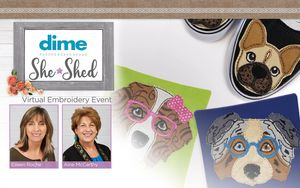 FREE DIME Virtual Event Custom Quilting with your Embroidery Machine Tuesday May 4th 2021 at 3:30 PM CDT