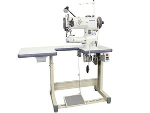 Techsew 4800PRO Cylinder Walking Foot Needle Feed Sewing Machine, Ustand, Laser & Roller Edge Guides, Adj Climb Foot, Flatbed Table, Needle Positioner
