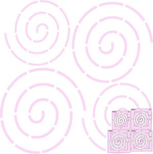 Sew Steady DM Quilting Coil Template 4pc Set