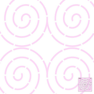 "Sew Steady DM Quilting Coil Template 6""x6"""