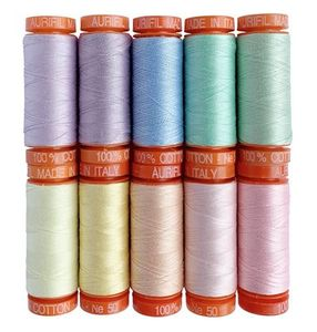 Aurifil TP50UP10 Tula Pink Unicorn Poop Thread Set