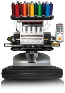Melco Bravo X 16 Needle 14x12 Embroidery Machine 1000SPM, Laser Alignment +Design Shop Lite