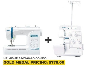 Juki HZL-80HP and MO-664D Power Couple Combo