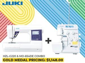 Juki HZL-G220 Sewing Machine and MO-654DE Overlock Serger Power Couple Combo