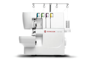 Singer, S0100, S0105, 230267112, Overlock, Serger, LED Lights, Threading, Loopers, 6 Built-In Stitches, Color Coded, Threading System, Singer S0100 Overlock Serger with LED Light for Threading Needles and Loopers, 6 Built-In Stitches, Color Coded Threading System