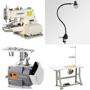 Reliable 8000BS Button Sewer Attaching Industrial Sewing Machine, (MSK-373N  Juki 373), Running Motor Power Stand
