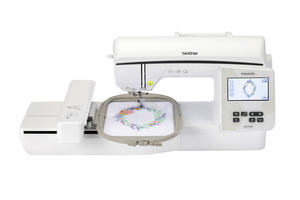 Brother NQ1700E Innov-ís Embroidery Machine with 258 built-in embroidery designs, 140 frame pattern combinations, and 13 embroidery lettering fonts