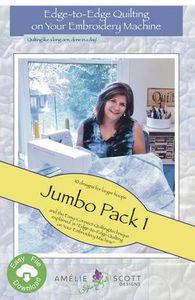 Amelie Scott Designs ASD233 Edge to Edge Quilting Jumbo Pack 1 Machine Embroidery