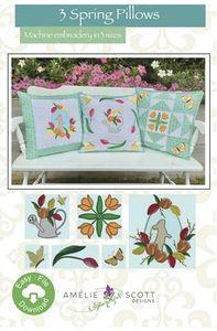 Amelie Scott Designs ASD264 3 Spring Pillows