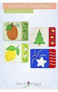 Amelie Scott Designs ASD256 Seasonal 2 Mug Rugs Embroidery