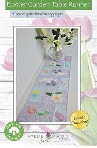 Amelie Scott Designs ASD234 Easter Garden Runner ITH Machine Embroidery