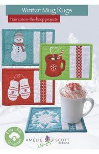 Amelie Scott Designs ASD198 Winter Mug Rugs