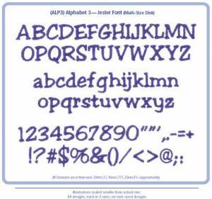Cactus Punch ALP3 Alphabet 3 Embroidery Lettering Font Designs CD
