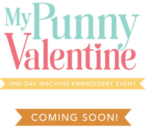 New Virtual Hybrid Kimberbell My Punny Valentine Embroidery Event January 8, 2022 10am - 4pm CST