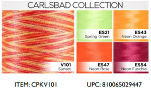 DIME, CRKV, ColorPlay, 5-Spool, Medley, Variegated, Poly Thread Kit, 5 Pack, 1000M Spools