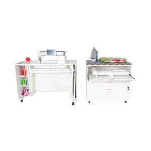 Arrow, 2071, 2081, Mod, 5, Lift, Hydraulic, XL, Only, available, White, Compact, Squad, Modular, Unit, Rolling, Casters, Wheels, Storage, Drawers