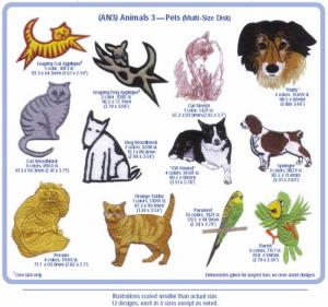 Cactus Punch AN3 Animals 3 Pets Embroidery CD