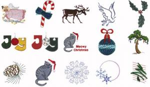 Cactus Punch CH01 Christmas Holidays, Vol. 1Embroidery CD