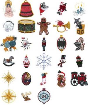 Cactus Punch CH03 Advent Calendar Embroidery CD
