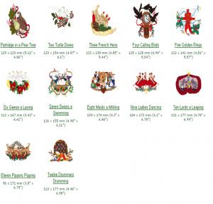 Cactus Punch CH10 The Twelve Days of Christmas Embroidery CD