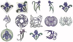 Cactus Punch HLM02 Heirloom Iris Embroidery CD