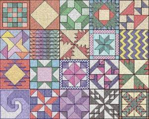 Cactus Punch QLT02 Cross Stitch Quilts 1 Embroidery Designs CD