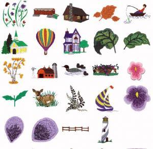 Cactus Punch SIG16 Landscape Elements Linda Crone Embroidery Disk