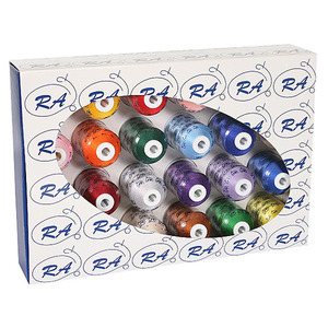 Robison, Anton, Most, Popular, 24, RA, Spools, Assorted, Colors, 1100, Yard, Polyester, Machine, Embroidery, Thread, Sampler, Kit, FREE, Color, Convert, Software, DIME