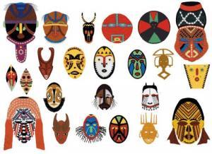 Cactus Punch SIG34 Wanda Haynes, African Masks Embroidery Disk