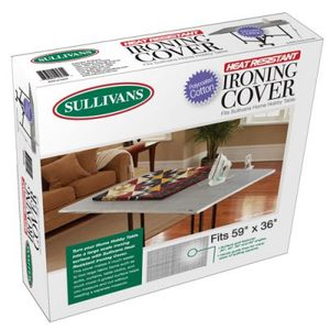 "4705: Sullivans 12572 Ironing Table Cover 36x59"" Grid, Heat Resist, Drawstring"