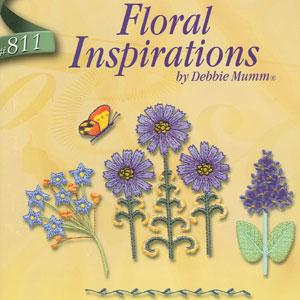 OESD 811 Floral Inspirations, Debbie Mumm Embroidery Card Brother .pes