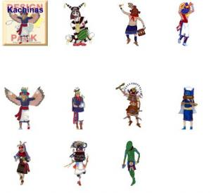 Cactus Punch SW02 Southwest Kachinas Embroidery Designs Disk