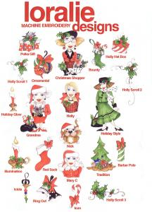 9452: Loralie Machine Embroidery Designs 630270 Holiday Multi-Formatted CD