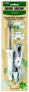"Clover, CLMCI-900A, Mini, Craft, 1"", Iron, Stand, Applique, Quilting, Bias, Sealing, Variable, Temperature, 10, Second, Heat, Up, Easy, Glide, Sole, Plate, 8', foot, Cord, On, Off, Switch, 3, Oz"