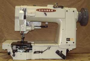 Consew 3321-194 High Speed Heavy Duty Single Needle Two Thread Drop Feed Needle Feed Assembled with Motor